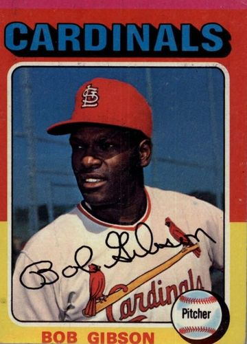 Photo of 1975 Topps #150 Bob Gibson -- Hall of Fame Class of 1981