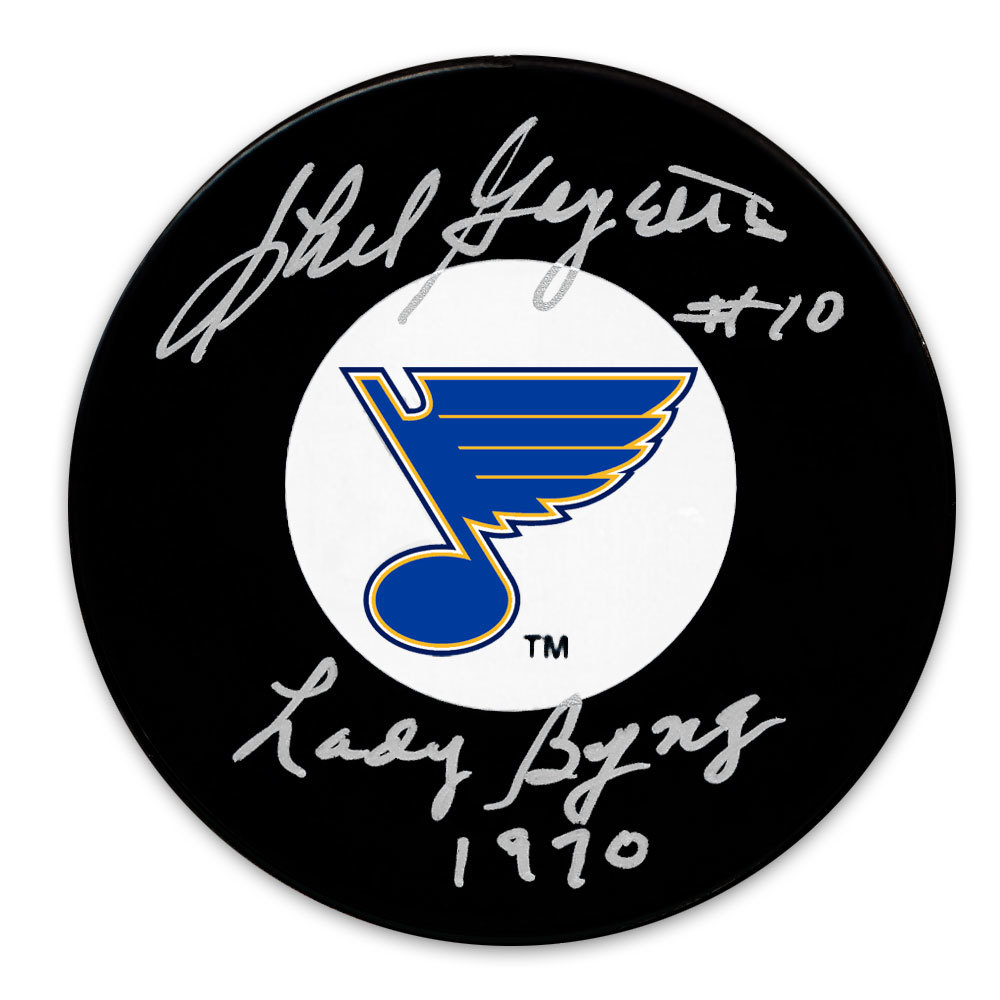 Phil Goyette St. Louis Blues 1970 Lady Byng Autographed Puck