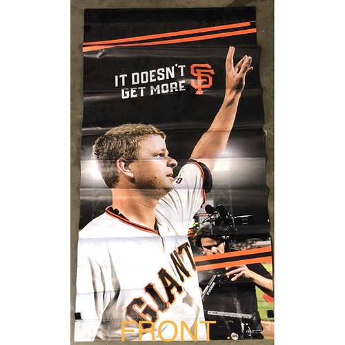 Photo of San Francisco Giants - 2018 Street Banner - 60th Anniversary - Matt Cain's Perfect Game