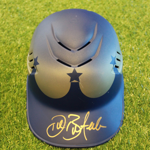 Photo of Team-Issued and Autographed Turn Ahead the Clock Catcher's Helmet: Drew Butera (Size 7 1/4 - KC @ SEA - 6/30/18)