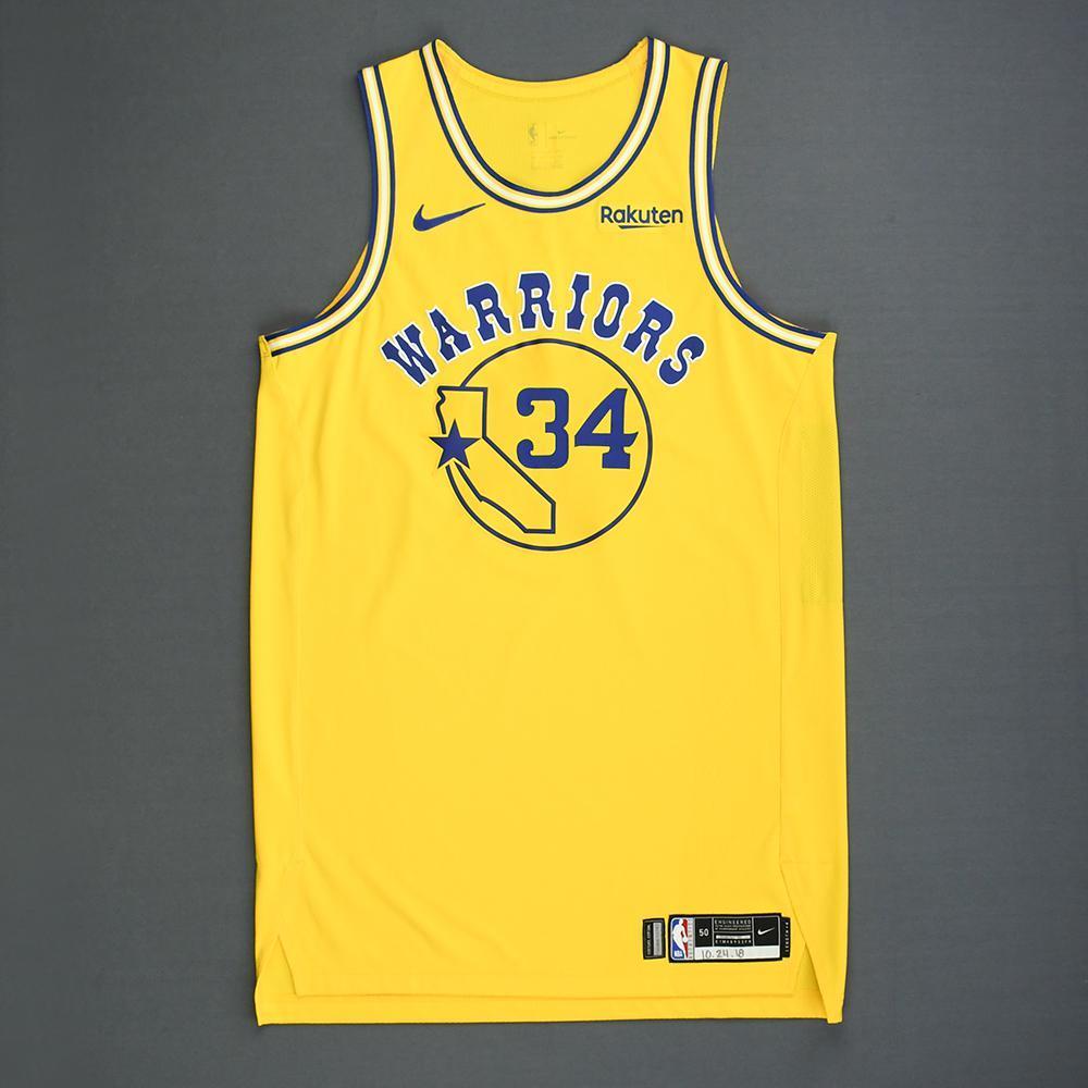 d2ffe2d05cc Shaun Livingston - Golden State Warriors - Game-Worn Classic Edition  1980-81 Home