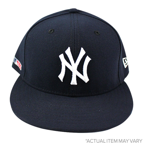 Photo of J.A. Happ New York Yankees 2019 Home Opening Day Game Used #34 Hat (3/28/2019) (Size 7 1/4)