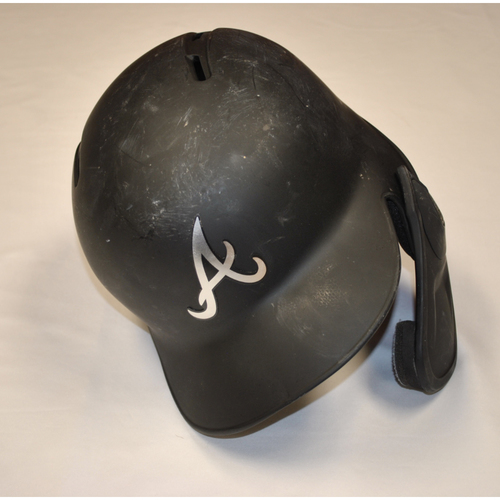 "Photo of Ronald ""EL DE LA SABANA"" Acuna Jr. Atlanta Braves Game-Used 2019 Players' Weekend Helmet"