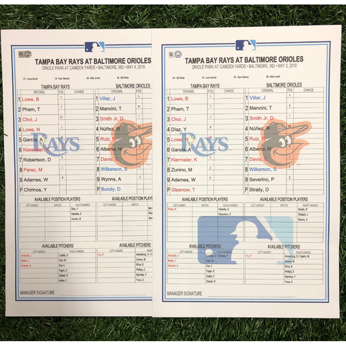 Photo of Replica LineUp Cards: May 3-4, 2019 at BAL