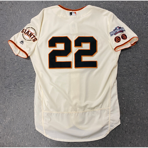 Photo of 2016 Team Issued Postseason Home Cream Jersey - #22 Jake Peavy - Size 48