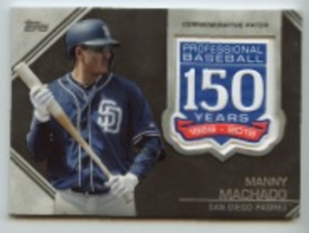 2019 Topps Update 150th Anniversary Manufactured Patches #AMPMM Manny Machado