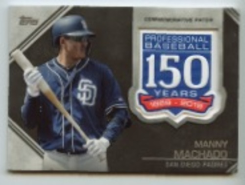 Photo of 2019 Topps Update 150th Anniversary Manufactured Patches #AMPMM Manny Machado