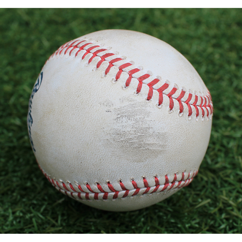 Game-Used Baseball: Hunter Dozier 174th Career Hit and 92nd Career RBI & Jorge Soler 79th Career Double (CLE @ KC - 7/28/19)