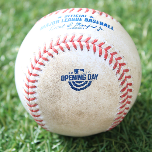 Photo of Game-Used Opening Day Baseball: Batter - Madrigal (Debut), Pitcher - Staumont, Foul, Top 7 (7/31/20 CWS @ KC)