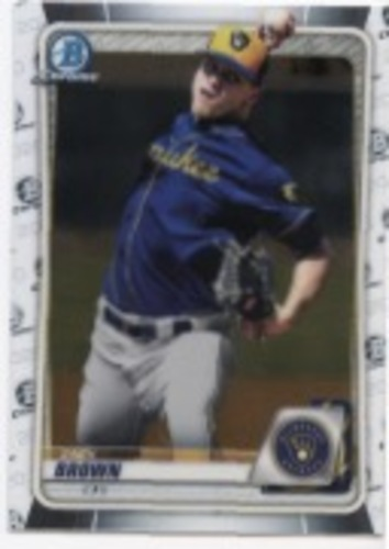 Photo of 2020 Bowman Chrome Prospects #BCP34 Zack Brown