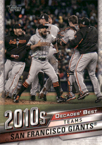 Photo of 2020 Topps Decades' Best #DB87 San Francisco Giants