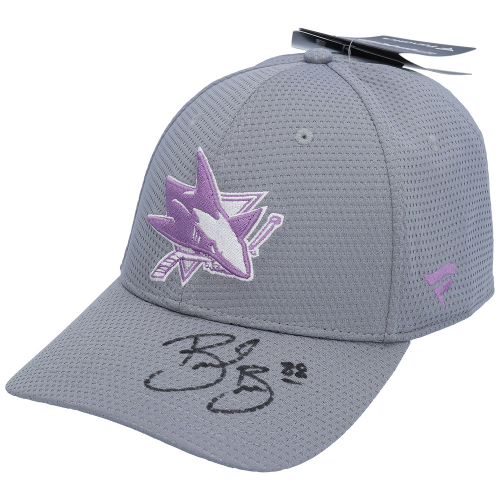 Brent Burns San Jose Sharks Autographed Hockey Fights Cancer Cap - NHL Auctions Exclusive