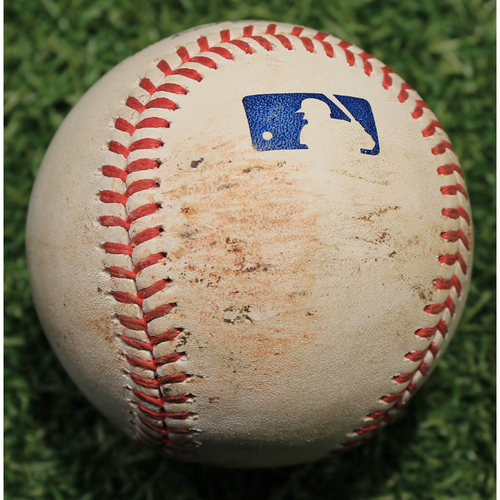 Photo of Game-Used Baseball: Triston McKenzie 19th Career Strikeout (CLE @ KC 9/2/20)