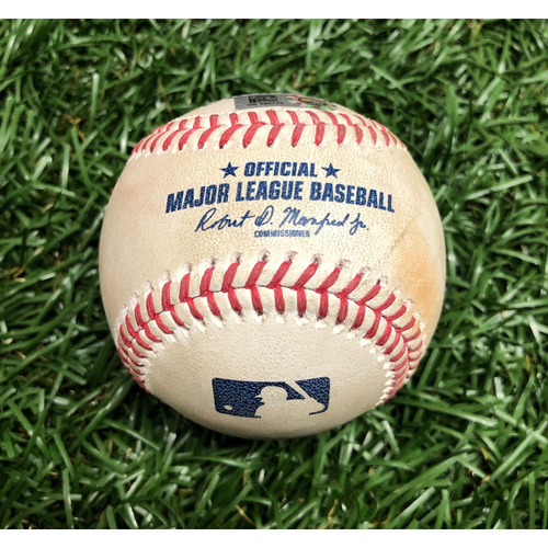 Photo of Spring Training Game Used Baseball: Willy Adames RBI single off Matt Hall - March 9, 2021 v BOS