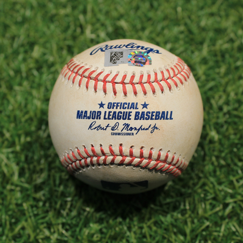 Game-Used Baseball: Mike Montgomery 415th Career Strikeout (9/26/20 DET @ KC)