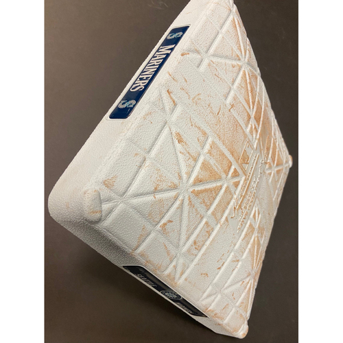 Photo of Game Used Second Base 5/13/21 - Jarred Kelenic and Logan Gilbert Major League Debut