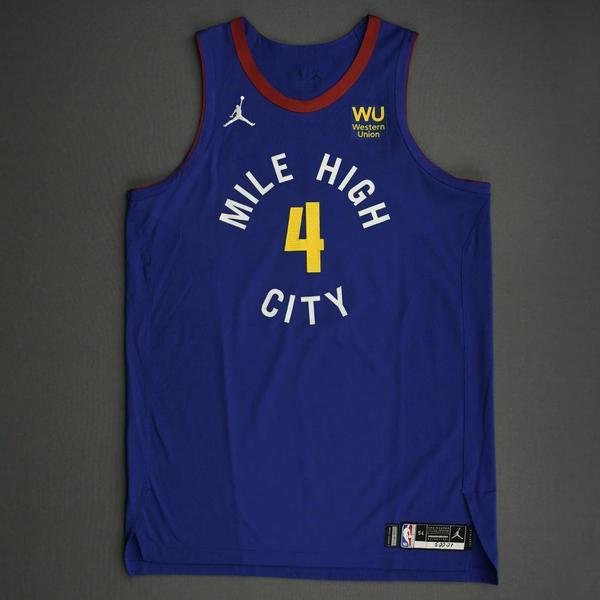 Image of Paul Millsap - Denver Nuggets - Game-Worn Statement Edition Jersey - 2021 NBA Playoffs