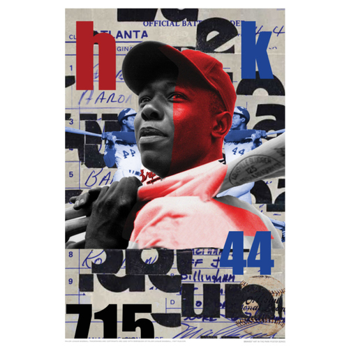 Photo of Hank Aaron - Braves Art in the Park Poster by Shaheed Rucker