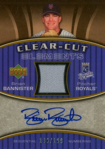 Photo of 2007 Upper Deck Elements Clear Cut Elements Gold #BB Brian Bannister
