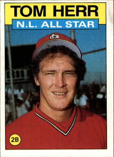 Photo of 1986 Topps #702 Tom Herr AS