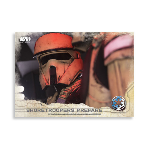 Shoretroopers prepare 2016 Star Wars Rogue One Series One Base Poster - # to 99
