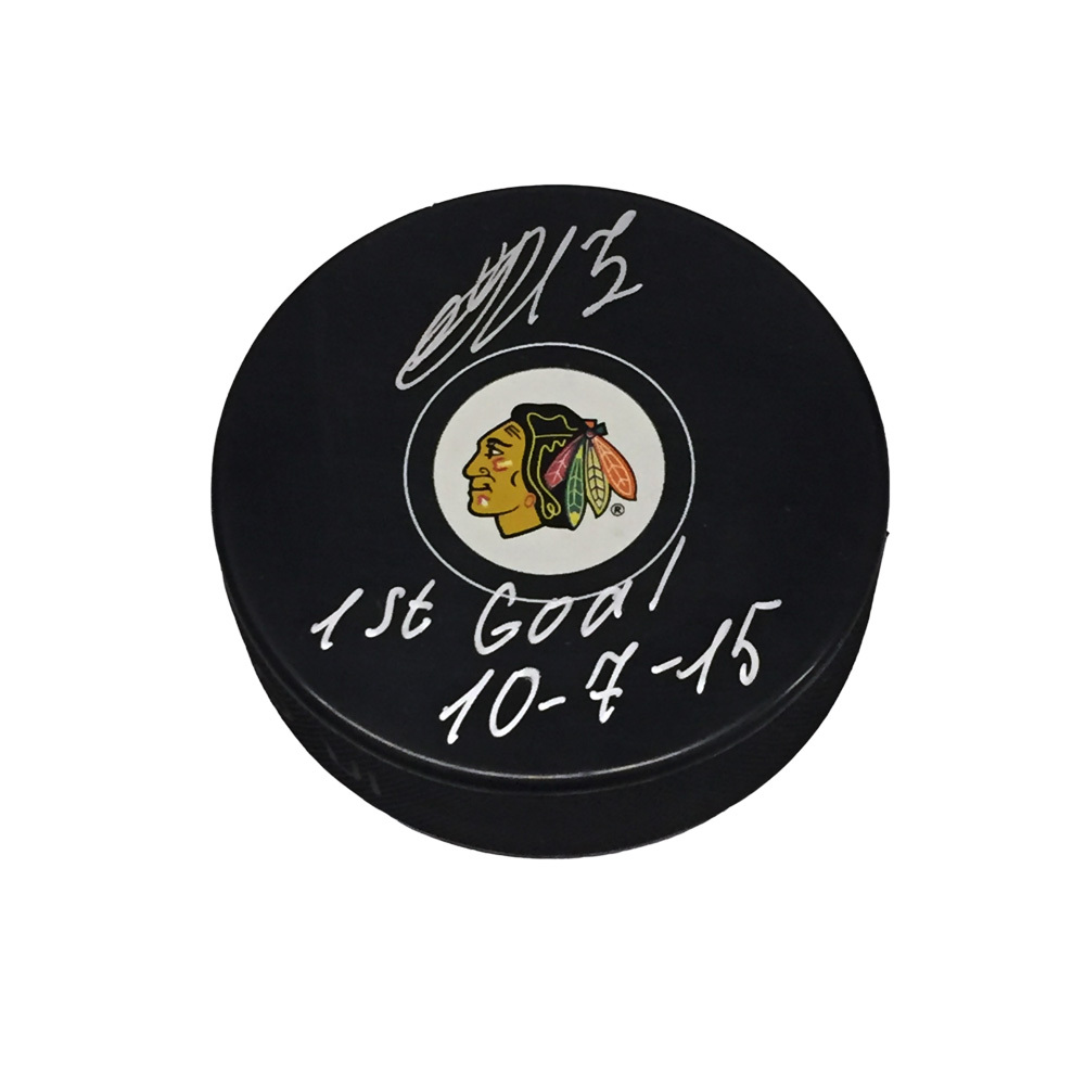 ARTEMI PANARIN Signed Chicago Blackhawks Puck with 1st Goal Inscription