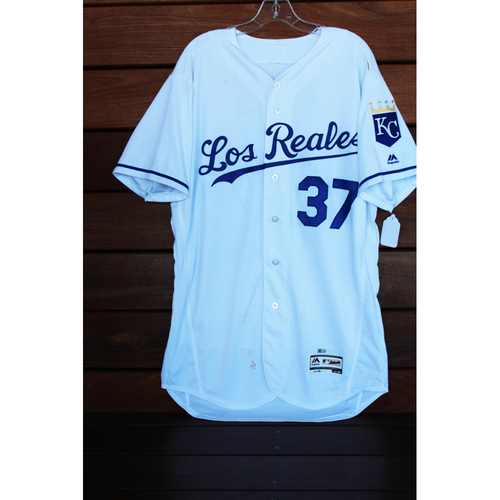 Game-Used Brandon Moss Los Reales Jersey (Size 46 - TOR at KC - 6/24/17)