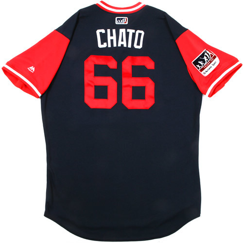 "Photo of Jose ""Chato"" Yépez Atlanta Braves Game-Used Players Weekend Jersey"