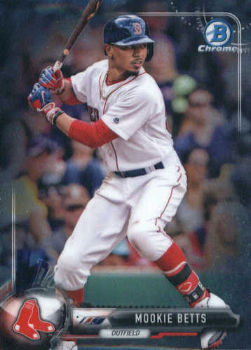 Photo of 2017 Bowman Chrome #63 Mookie Betts -- Red Sox post-season