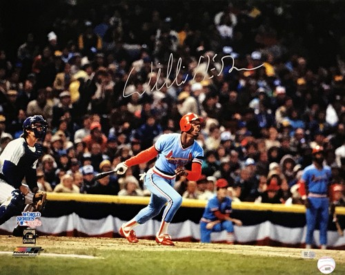 Photo of Willie McGee Autographed 16x20 Photo (82 World Series)