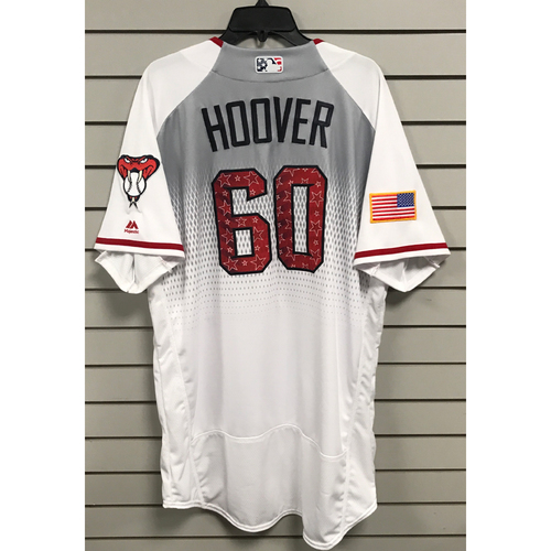 Photo of JJ Hoover Team-Issued 2017 4th of July Home Jersey