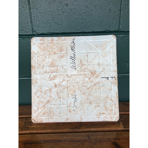 Photo of Cardinals Authentics: Game Used and Autographed Base from the 2014 Cardinals Hall of Fame Class *Mike Shannon, Willie McGee, Jim Edmonds*