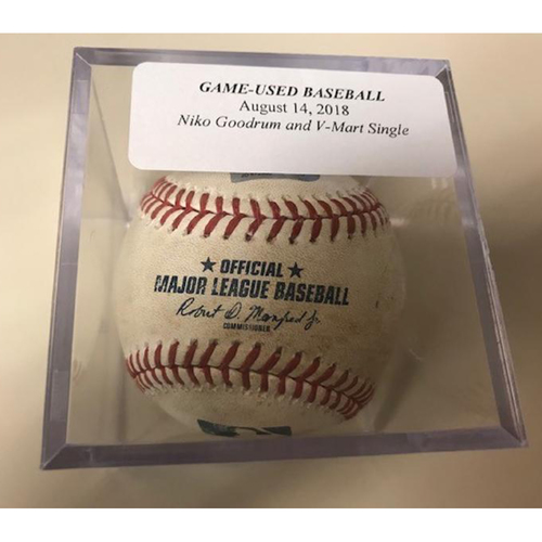 Photo of Game-Used Baseball: Niko Goodrum Single and Victor Martinez Single