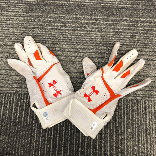 Photo of San Francisco Giants - 2018 Team Issued Batting Gloves - #26 Chris Shaw