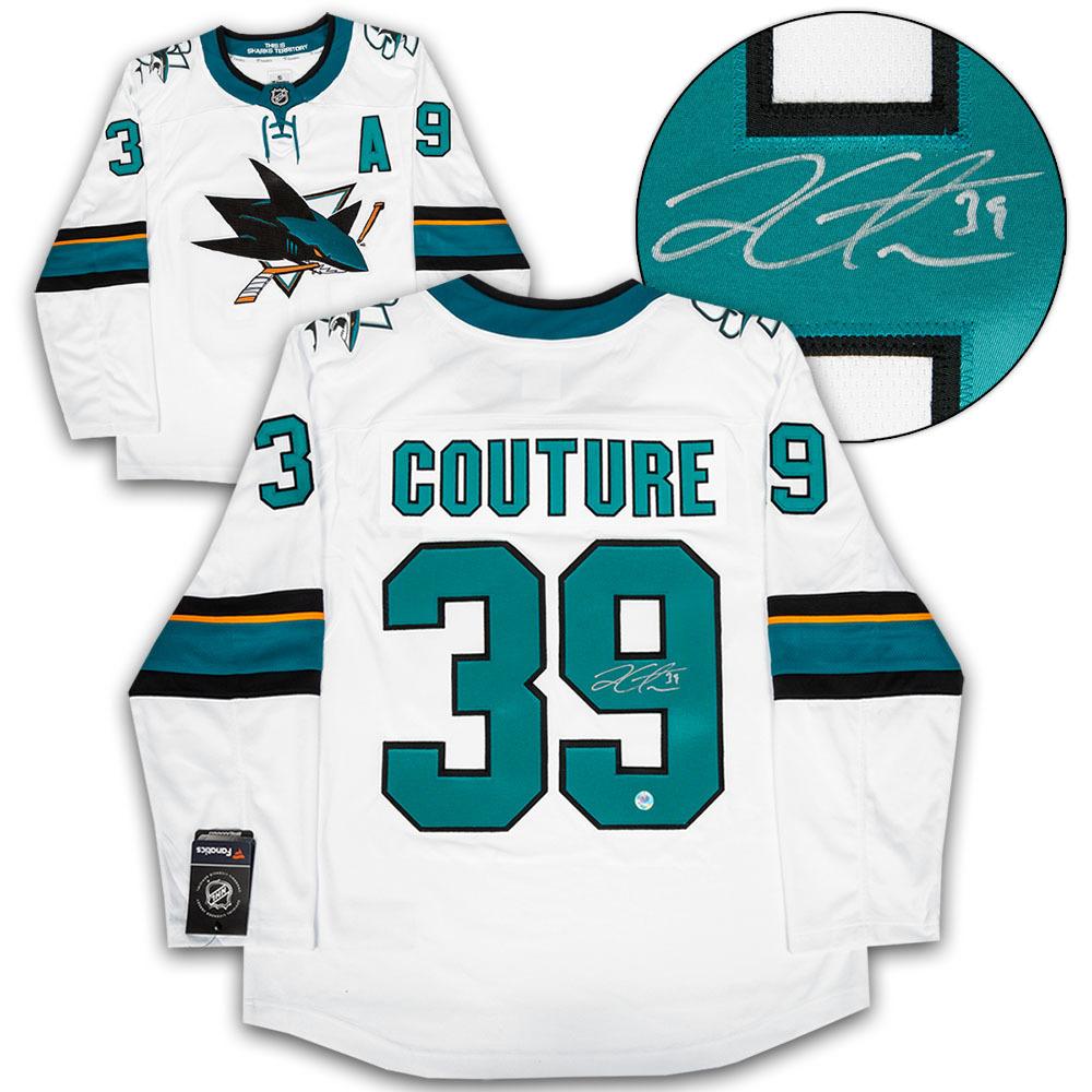 online retailer d604d 8f3d7 Logan Couture San Jose Sharks Autographed White Fanatics ...