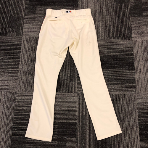 Photo of 2018 Team Issued Home Cream Pants - #10 Evan Longoria - Size 35-38-35