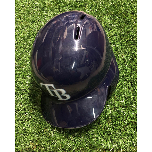Photo of Game Used Batting Helmet - FIRST MLB SEASON - Willy Adames - September 29, 2018 v TOR