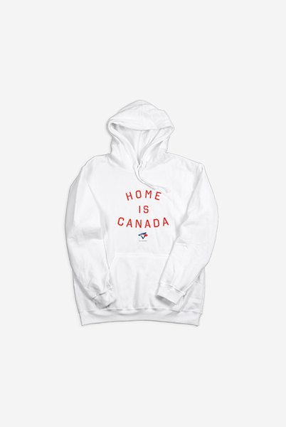Toronto Blue Jays White Home is Canada Hoodie by Peace Collective
