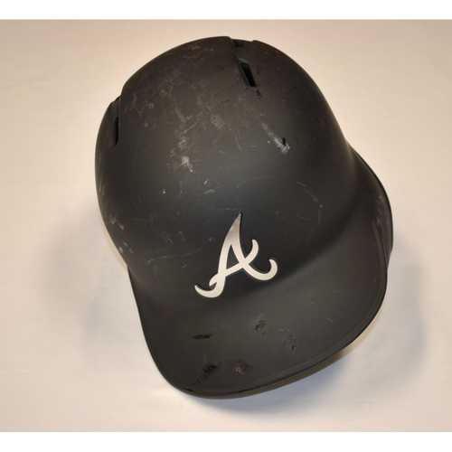 "Photo of Josh ""BRINGER OF RAIN"" Donaldson Atlanta Braves Game-Used 2019 Players' Weekend Helmet"