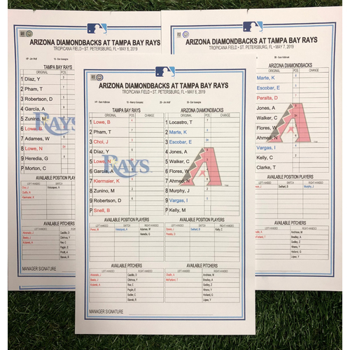 Photo of Replica LineUp Cards: May 6-8, 2019 v ARI