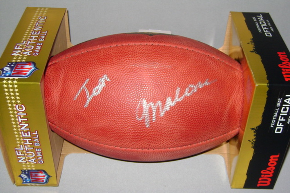 NFL - JETS JOSH MALONE SIGNED AUTHENTIC FOOTBALL