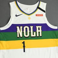 Zion Williamson - New Orleans Pelicans - Game-Worn City Edition Jersey - 2019-20 Season - Scored Team-High 21 Points