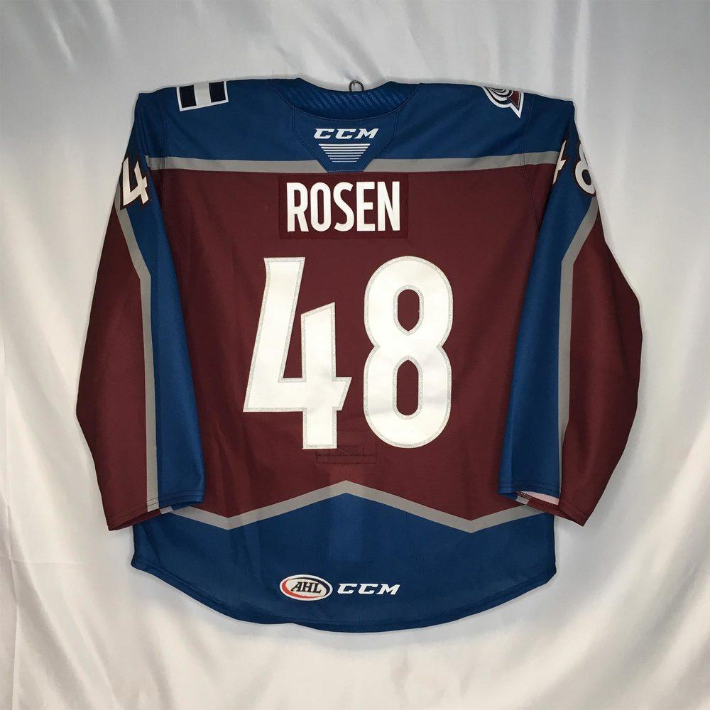 2019-20 Colorado Eagles Third Jersey Worn #48 Calle Rosen