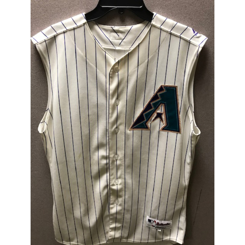 Photo of Christian Walker 2019 Game-Used Sleeveless Throwback Jersey: 8/29/19 vs. Dodgers, 1-4, 2 R, BB