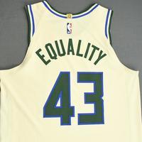Thanasis Antetokounmpo - Milwaukee Bucks - Game-Worn City Edition Jersey - Dressed, Did Not Play (DNP) - 2019-20 NBA Season Restart with Social Justice Message