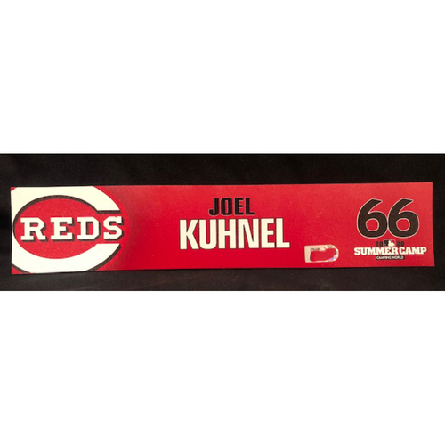 Photo of Joel Kuhnel -- 2020 Sumer Camp Locker Tag -- Team-Issued