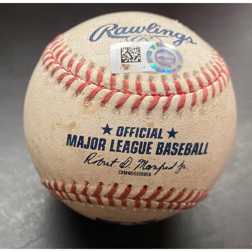 Photo of Game-Used Baseball:  Jorge Soler Kansas City Royals Hit By Pitch (MLB AUTHENTICATED)