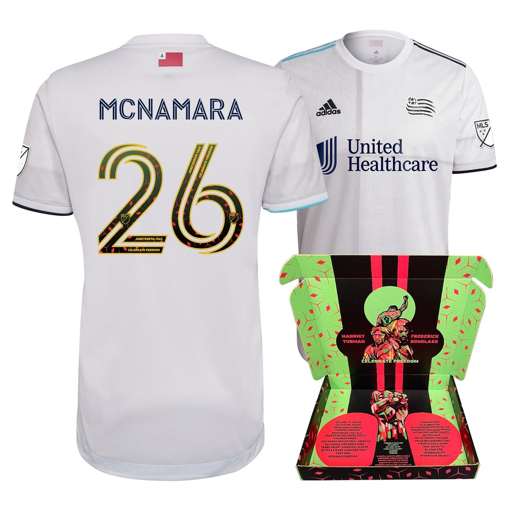 Tommy McNamara New England Revolution Match-Used  & Signed