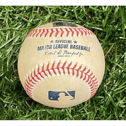Photo of Game Used Baseball: Austin Meadows double off Randy Dobnak - Bottom 2 - September 3, 2021 v MIN