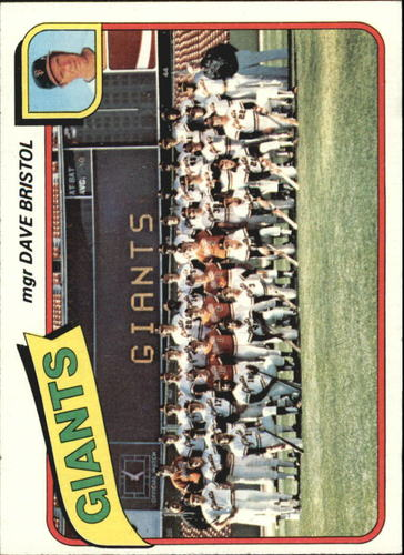 Photo of 1980 Topps #499 San Francisco Giants CL/Dave Bristol MG